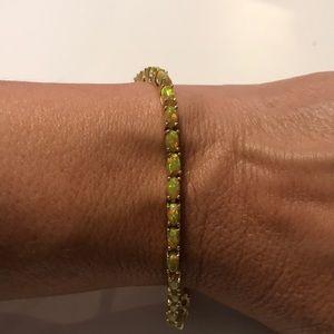 JTV Yellow Opal Zirconia Bracelet